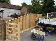 Closeboard fencing in Amesbury