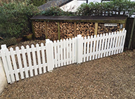 Picket fencing in Amesbury